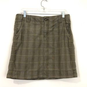 Gap Cotton Plaid Mini Skirt